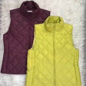 2 LOFT Quilted Puffer Vests